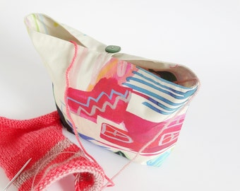 Knitting Bag, Knit Project Pouch Bag, Yarn Organizer Knitter Gift