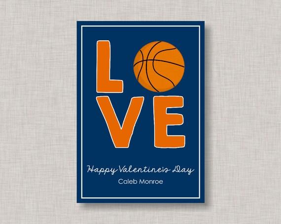 Basketball Valentine CardClassroom Valentine CardValentines Day – Basketball Valentine Cards
