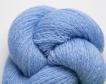 Azure Blue Recycled Cashmere Lace Weight Yarn, CSH00250