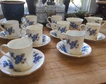 Vintage Fenton Radfords bone china stoke on trent Blue Floral