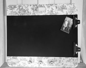 Old Artist Clip Board Repurposed to Chalk Board Organizer
