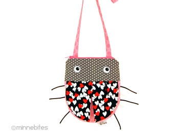 Toddler Birthday - Love Bug - Cross Body Purse for Girls - Pink Ladybug - First Purse - Little Girls Purse - Cute Handbag - Ready to Ship