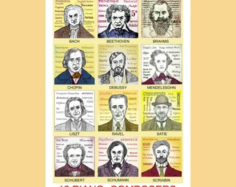 12 Piano Composers poster
