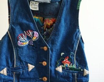 Hand embroidered Vintage vest