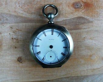 1860's  Eugene Jaccard & Co. Pocket Watch Key Wind , Civil War vintage Pocket Watch for Parts .