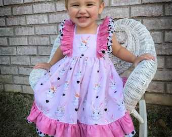 Miss Bunny Easter Dress--size 12mos to 8y