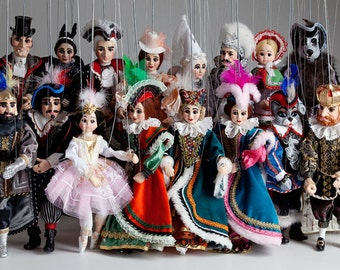 Fairy Tale Collection of Marionettes - Czech Handmade String Puppet