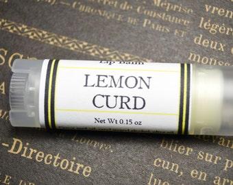 Lemon Curd Lip Balm - Lemon & Vanilla Infused Oil Oval Lip Balm