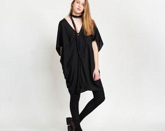 Lotus Dress, Black.