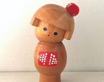 "Vintage Small Sosaku Kokeshi "" okappa"""