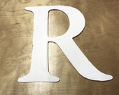 R - Reclaimed vintage letter - 14 inch - NEW