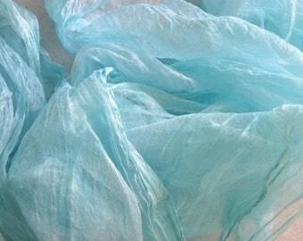 Silk for feltmaking 2 yards, nuno felting, felting, silk for felt, silk fabric, pure 100% silk, real silk, silk muslin, silk scrim