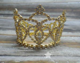 Princess crown, gold crown, baby tiara, infant tiara, tiara headband, princess tiara, crown, tiara, baby crown headband, flower girl tiara