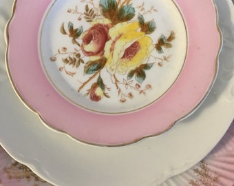 Adorable PINK mismatched antique bone china lot instant wall decor or vintage wedding or serving! Shabbily chic!