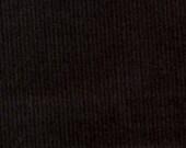 Black Corduroy Finewale Featherwale Babywale 21 wale 1 yard