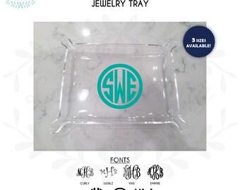 Monogram Acrylic Jewelry Tray - 3 SIZES