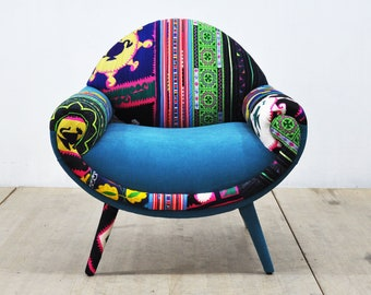 Smiley Armchair - turquoise love