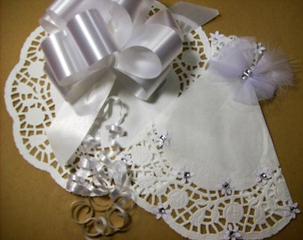 White Paper Doily Wedding Gown PDF Embellishment Scrapbook Supply