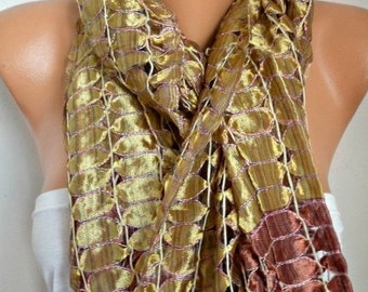 ON SALE --- Silk Scarf, Cowl Scarf, Wedding Shawl, Bridal Scarf ,Bridesmaid Gift, Gift Ideas For Her Women Fashion Accessories,Christmas in