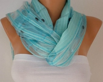ON SALE --- Light Blue Scarf Shawl, Wedding Scarf Bridesmaid Gift Bridal Accessories Gift Ideas For Her Women Fashion Accessories