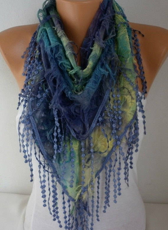 Purple Ombre Scarf, Summer Scarf, Birthday Gift, Cowl Scarf  Gift Ideas For Her Women's Fashion Accessories Scarves best selling items