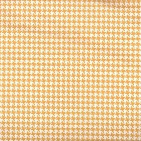 Houndstooth fabric,Golden Orange and white houndstooth fabric,100% cotton,Quilt fabric,Apparel fabric,Craft,Sold by FAT QUARTER INCREMENTS