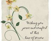 Handmade Thinking Of You Card ,Sympathy Card, Condolence Card, Condolences, Make A Wish Card, Memorial Card, Funeral Card,