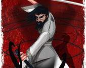 Samurai Jack / Season 5 / Aku / Samurai / Adult Swim / Toonami / Cartoon Network / Phil LaMarr / Genndy Tartakovsky / Geek /  Fine Art Print