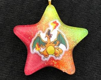 Charizard charm necklaces resin pokemon