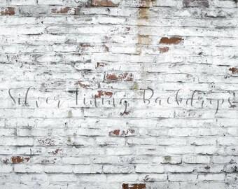 LARGE 5ft x 7ft Vinyl Photography Backdrop /  Brick Wall