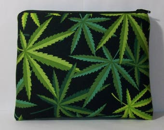 """Pipe Pouch, Cannabis Bag, Glass Pipe Cozy, Padded Pipe Pouch, Marijuana, Pipe Bag, 420, Smoke Bag, Weed, Stoner Gift, 7.5"""" x 6"""" - X LARGE"""