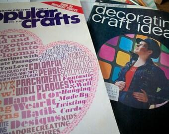 Popular Crafts, Decorating & Craft ideas, vintage 70's magazines