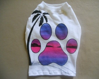 Airbrushed t-shirt for Dog/Cat size XS