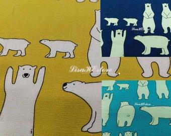 Polar bear, 1/2 yard, pure cotton fabric