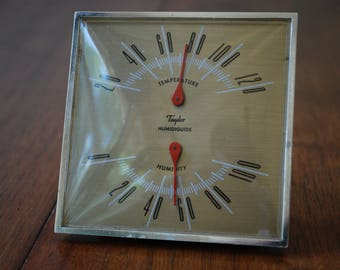 Vintage Taylor Humidiguide - Thermometer- Humidity - Desktop Weather Station