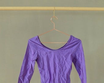 SALE Neon Purple Leotard Bodysuit Vintage 90's