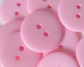 20 Resin Pink 23mm  Buttons, Sewing, Crafts