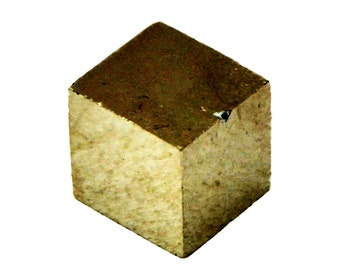 Rough Ryrite Cube Stone (10mm x 10mm x 9mm) - Raw Pyrite Gemstone - Pyrite Stone