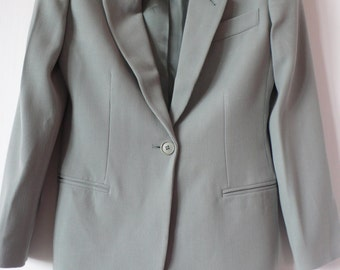 Emporio Armani pale sage green wool jacket Made in Italy 38