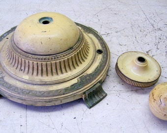 Vintage  Cast Iron Art Deco Floor Lamp Base/Spacers for Parts Repair Restoration or Repurpose