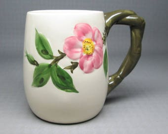 Franciscan desert rose large / grand mug , marked Interpace USA