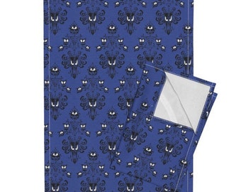 Disneyland's The Haunted Mansion Damask Custom 16x24 2 Linen Cloth Tea Towels!!