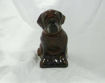 Vintage Avon St. Bernard Decanter, Cologne Bottle, Avon Bottle, Brown Dog, Glass Dog, Saint Bernard Dog, Brown Glass