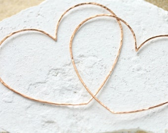 Rose or Yellow Gold Filled Big Love Heart Pendant | Connector