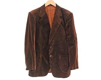 """Vintage Velvet Blazer Smoking Jacket - M 38"""" 40"""" (26107)"""