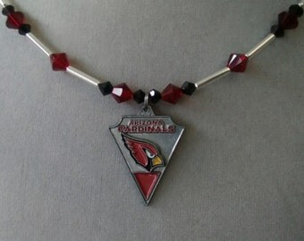 Arizona Cardinals Swarovski Crystal Necklace