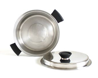 Duncan Hines Cookware Dutch Oven Pan 3 ply Stainless Steel Regal Ware 4 Qt