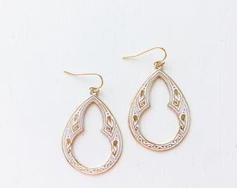 Moroccan Keyhole Earrings || Boho Earrings, Boho Jewelry, Bohemian Jewelry, Gold Earrings, Lightweight Earrings, Spring Jewelry