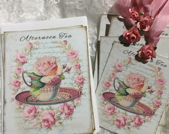 Afternoon Tea Stationery Set, Notecards, Gift Tags, Blank Cards, Greeting Cards