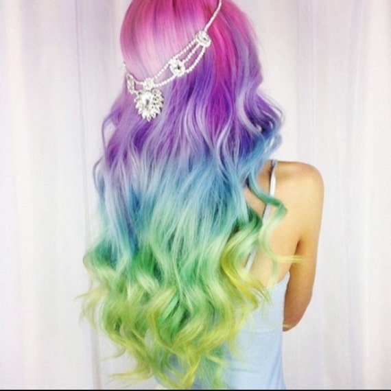 Unicorn Hair Extensions Clip In Pastel Hair Extensions Full